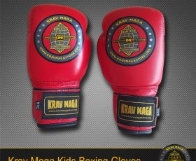 Kids Krav Maga Leather Boxing Gloves - 6oz